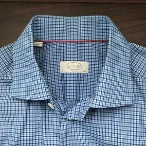 Eton Blue check Slim Fit Shirt